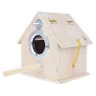 บ้านนกพิราบกล่องเพาะพันธุ์นกแก้วทำจากไม้,ของตกแต่งแบบแขวนที่อยู่อาศัยในสวนให้ความอบอุ่นสำหรับใช้กลางแจ้ง