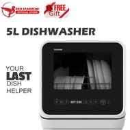 TOSHIBA 5L Counter-Top Portable DishWasher DWS-22ASG(K)