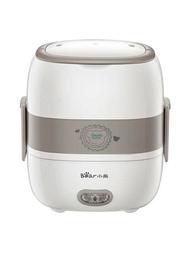 電熱飯盒 小熊電熱飯盒雙層陶瓷迷你電熱飯盒可插電加熱蒸煮飯盒蒸飯熱飯器