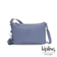Kipling 氣質粉嫩藍雙袋斜背小包-MIKAELA