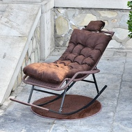 Rocking Chair Recliner Chair Adult's Household Rattan Chair Elderly's Rocking Chair for Living Room Leisure Balcony Rattan Chair for Adults Leisure Chair