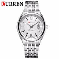 CURREN 8092復古日曆男士商務腕錶防水鋼帶