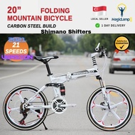 (Ready Stock + Free Install) Begasso 20Inch Foldable Mountain Bike Shimano 21 Speed Gear Sports Rims Full Suspension