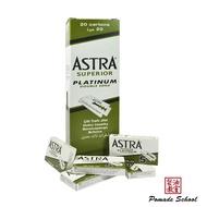 💈髮油教室💈俄羅斯 Astra 刮鬍刀片 白金版 一條 20盒 100片