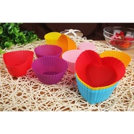 【矽膠馬芬杯】圓形 心形 花形 方形 玫瑰 菊花 橢圓 小樹 5角星 彩色矽膠蛋糕模具 蛋糕杯 馬芬杯 蛋塔模具