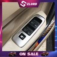 Zlord Car Stainless Steel Car Window Lifter panel Cover Trim Sticker for Ford Ranger Car Accessiores