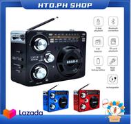 USB FM/AM/SW 3 Band Wireless Bluetooth Speaker AM FM Radio Portable Rechargeable USB TF MP3 Player Radio Mini Bluetooth Speaker