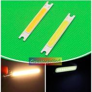 10Pcs 3W COB สีขาว LED แถบไฟ LED ไดโอดเปล่งแสงแผง12V