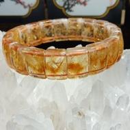 水晶黃膠花手排15mm