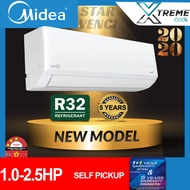 [SELF PICKUP] R32 MIDEA 1.0HP / 1.5HP / 2.0HP / 2.5HP MSAG-CRN8 NON INVERTER AIRCOND WITH IONIZER AIR CONDITIONER