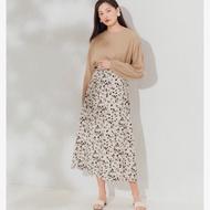 MQ 油漆感印花傘擺長裙