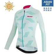 Santini SCIA「喚醒」亞洲版女性防曬長袖車衣 - 露水綠