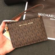 MK 滿版logo防刮拉鍊手拿零錢包 經典黑 鑰匙包 手拿包 MICHAEL KORS 現貨 美國代購