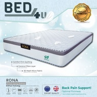 Bed4U - ECOlux (RONA) Queen/King Mattress -Therapeutic Spring Mattress / 10 Inch