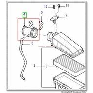 [正廠][進氣軟管/空氣芯軟管/肥腸][適用:METROSTAR 01- ]