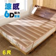 【BuyJM】雙人加大6D涼感彈力透氣亞藤涼蓆/涼墊/6x6.2尺