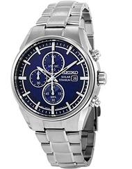 Seiko Watches Watch Seiko Solar Ssc365p1 Men´s Blue