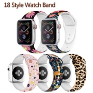 JANSIN 18 Style For Apple Watch 5 44mm Silicone Pattern Strap For Apple Watch Series 5 4 3 2 1 42mm 44mm