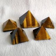 天然黄虎眼石  金字塔 摆件  黄虎眼石 风水镇宅 能量体金字塔摆件