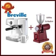 เครื่องชงกาแฟ Breville BES250 + เครื่องบดกาแฟ 600N อุปกรณ์ทำกาแฟ ทำกาแฟ เครื่องชงกาแฟ กาแฟคั่วบด กาแฟสด