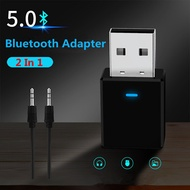 2 in 1 Bluetooth Receiver Transmitter Bluetooth 5.0 AUX RCA USB 3.5mm Jack Audio Dongle Wireless Ada
