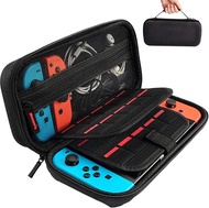 bag for switch carrying case compatible with nintendo switch - 20 game cartridges protective hard shell travel carrying case pouch for nintendo swit