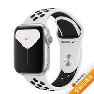 Apple Watch Nike+ Series 5 GPS 版 40mm 銀色鋁金屬錶殼配白色 Nike 運動錶帶 (MX3R2TA/A)【全新出清品】