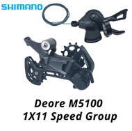SHIMANO DEORE M5100 Groupset SL M5100 Shift Lever Right + RD M5100 REAR DERAILLEUR MTB DEORE 11-SPEED SL+RD M5100 Groupset 11V bike parts