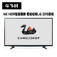 【小駱駝】電視 全新43吋4K HDR聯網LED TV採用LG IPS 面板 可搭EVBOX PLUS