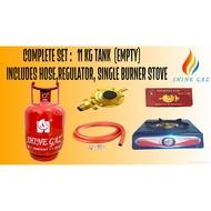 11 kg shine gaz LPG COMPLETE SET