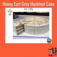Honey Earl Grey Hazelnut Cake 1.2KG (Halal)