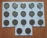 17pcs 50sen 1967-1988 Parliament Set