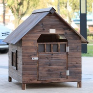 Outdoor dog house rainwater pet house solid wood dog house outdoor dog house warm dog house cat house dog cage large dog