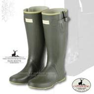 【日本鹿牌 CAPTAIN STAG】雨神 超輕量橡膠可調式防水雨鞋_橄綠 UX-658/659/660