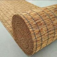 Tikar reed anyaman tangan buatan tangan, ladang, buluh, hiasan, ruang teh siling, dinding tanah,