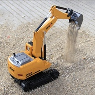 遙控車 大號合金電動遙控挖掘機 充電挖土機合金工程車模型 玩具鉤機