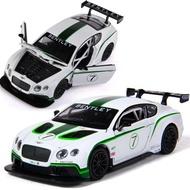 ╭。BoBo媽咪。╮盒裝 彩珀模型 1:32 BENTLEY 賓利 GT3 賽車場霸主 聲光回力車