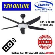 ELMARK 24W LED RGB CEILING FAN 52''