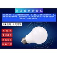雷達微波感應式燈泡12W/白光