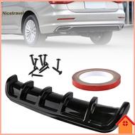 [Ni] Glossy Bumper Diffuser Car Rear Bumper Diffuser Easy Installation for Auto