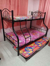Double Deck R Type Bed Frame with Regular Foam and Pull Out