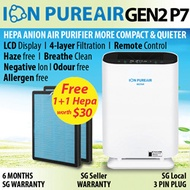 ★Air Purifier Hepa Filter★ION PUREAIR Gen2 P7★More Compact/Quiet★