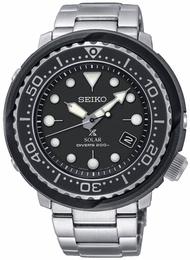 Seiko Mens Black Prospex Solar Divers Watch