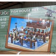 現貨- 優格 UG 30101 MOC系列老漁屋 碼頭 漁港 老漁屋 擴充包/相容樂高 21301 16050 1147
