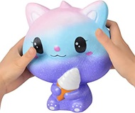 Giant Animal Squishy Toy Soft Slow Rising Squishies Jumbo Squishy Toy Gifts Home Decor Stress Reliever (Cat A)