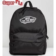 「i」【現貨】Vans Realm Backpack 黑色 素面 休閒 經典 男女 後背包 書包