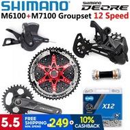 SHIMANO DEORE M6100 M7100 Groupset 12 Speed Shifter M7100 Rear Derailleur SunRace CSMZ901 Cassette K