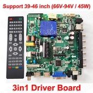 TP. v56.PB801 โทรทัศน์ LED LCD 3in1 DRIVER BOARD LED สากลกระดานควบคุมทีวีเมนบอร์ด Mainboard VGA/HDMI/AV/TV/USB อินเทอร์เฟซใช้งานร่วมกับ TP. v56.PB726/SKR.801/TP. VST59S. PB716/PB726/PB801/PB813 32-46 นิ้ว