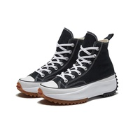 CONVERSE 女款高筒厚底 帆布鞋-166800C 厚底 增高 RUN STAR HIKE -黑色