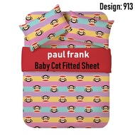 Paul Frank 800TC/ Etoz 950TC Micro-satin/ 100% Egyptian Cotton Baby Cot Fitted Sheet